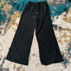 American Eagle Black Wide Leg Pants with Beads XS
